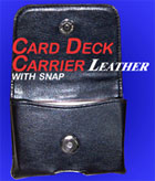 Card Deck Carrier with Snap, Leather