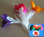 Sleeve Bouquet, 4 Feather Flowers by Black Magic
